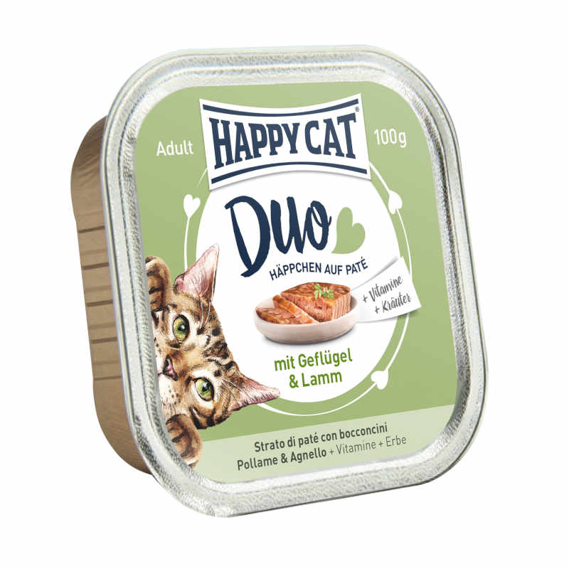 HAPPY CAT DUO Volaille & Agneau 12 x 100g