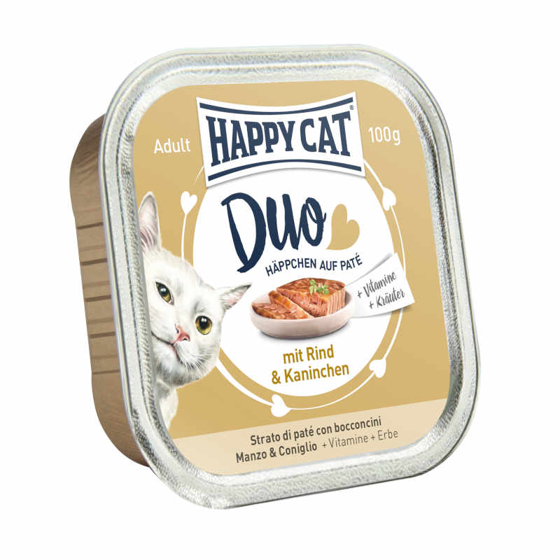 HAPPY CAT DUO Boeuf & Lapin 12 x 100g